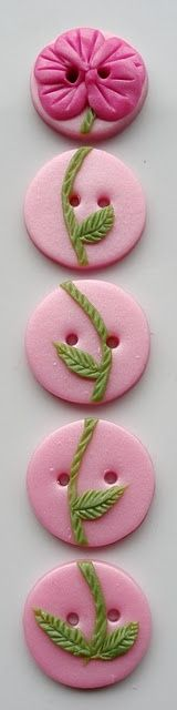 Handmade Polymer Clay Buttons / Buttons by Benji
