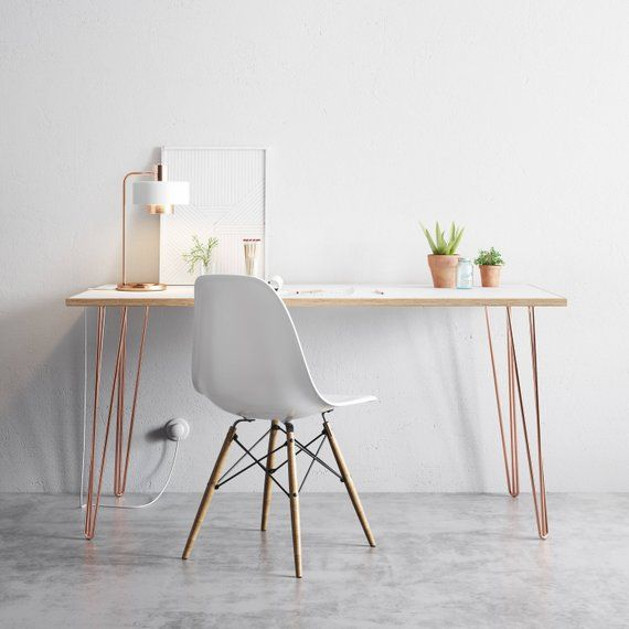 4 X Hairpin Legs Desk Dining Table 28 Inch Including Free