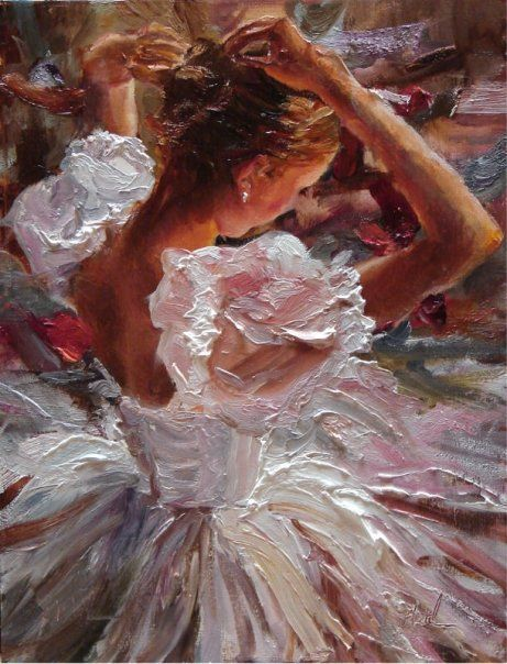 This painting by Scott Mattlin is astonishing. The expression of the colors and the elastic oil paint came to the perfect expression of a portrait of a ballet dancer.