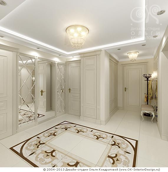 3D дизайн светло-бежевой прихожей  http://www.ok-interiordesign.ru/ph36_art-deco-interiors.php