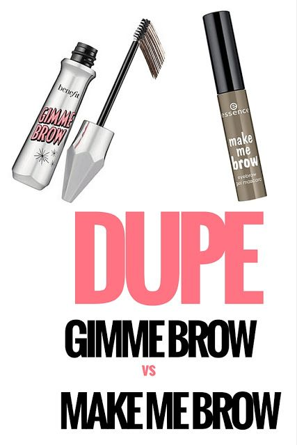DUPE? Benefit Gimme Brow Vs. Essence Make Me Brow