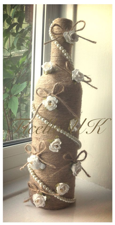 Handmade twine wedding gift