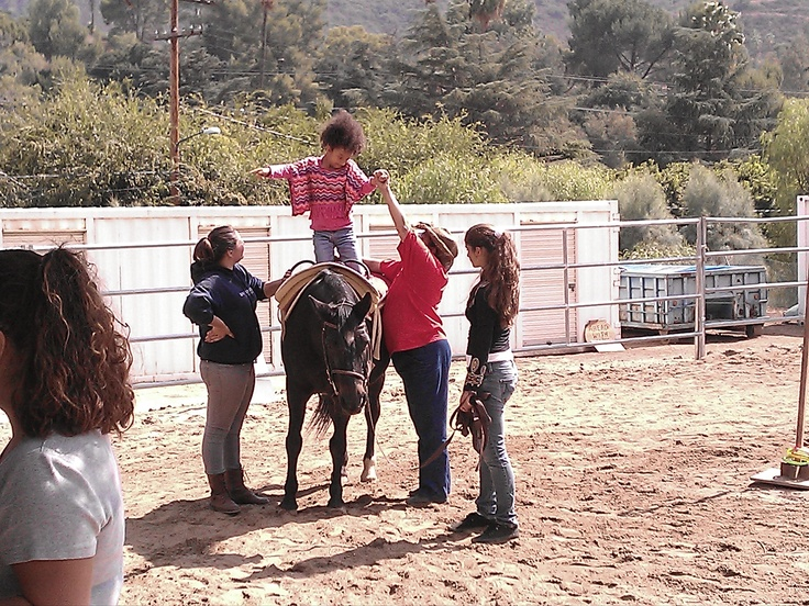 Ahead With Horses (AWH), in Shadow Hills, CA, is a nonprofit organization dedicated to helping children with special needs discover new abilities and achieve new heights through hippotherapy and vaulting.