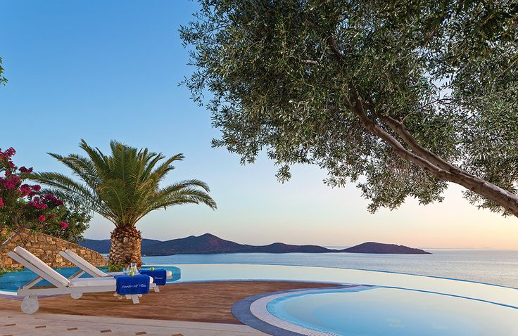 Elounda Gulf Villas & Suites Crete Sleep from 2 - 8. With blissful views over the Gulf of Mirabello, these luxury villas and suites on Crete combine the facilities and services of a deluxe resort with the welcoming ambience of a select boutique hotel.