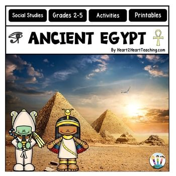 Ancient Civilizations - Ancient History - Learning about Ancient Egypt has never been so much fun! This creative and interactive unit is packed full of informational articles, student activities that work great in interactive notebooks, vocabulary posters, maps, timelines, organizers, and much more!