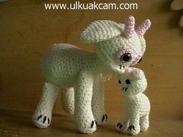 Amigurumi Mama und Baby Ziege Haekelanleitung made by Dolls und Toys via DaWanda.com