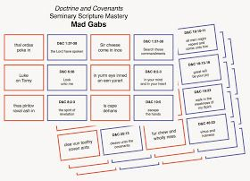 Elaine's Sweet Life: Doctrine and Covenants Seminary Scripture Mastery MAD GABS