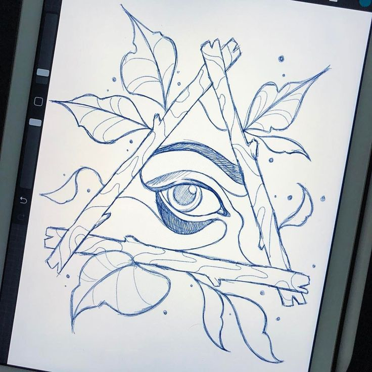 Eye see what you mean. Neo traditional eye in a triangle. Had to draw one lol. Design available for tattoo. DM or Email for appointments.
