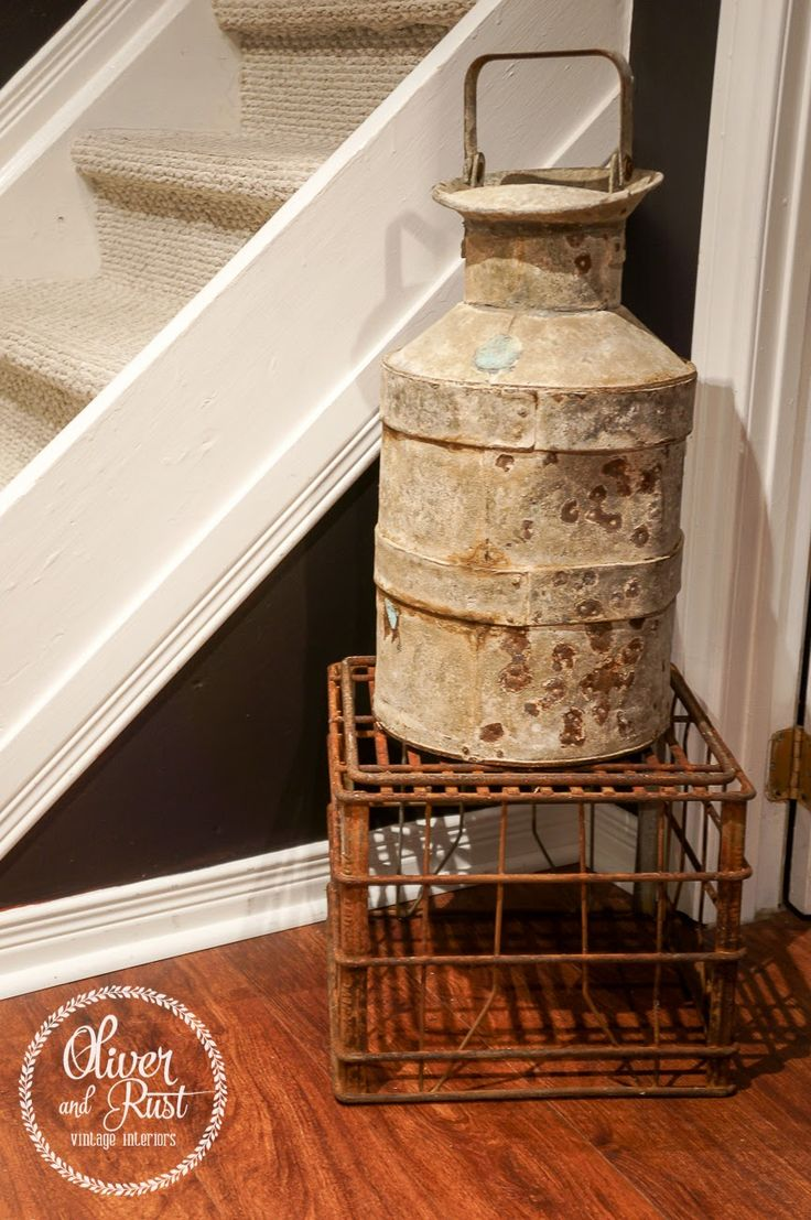 17 best images about milk cans on pinterest for Decorating with milk crates