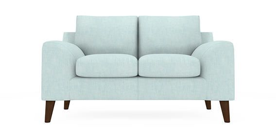 Buy Astrid Small Sofa (2 Seats) Belgian Soft Twill Teal Low Retro Tapered - Standard from the Next UK online shop