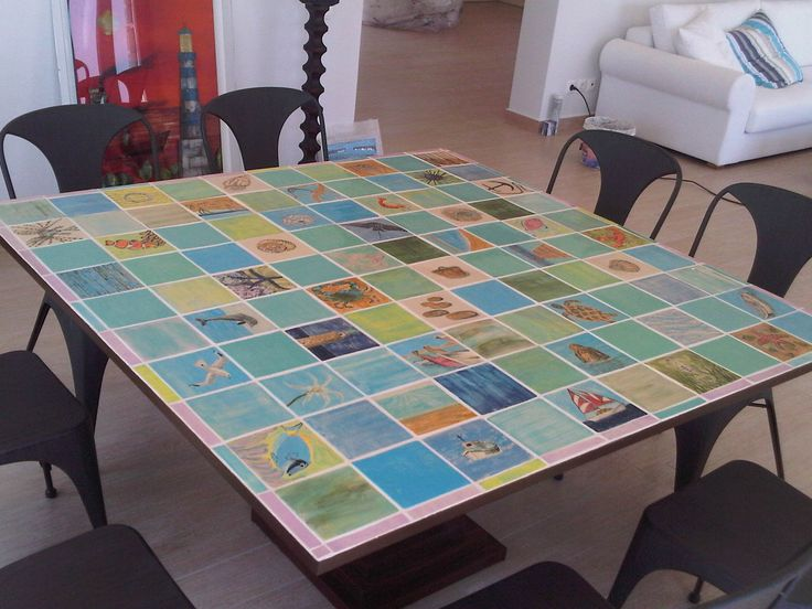 Hand made tiles  By Aline D