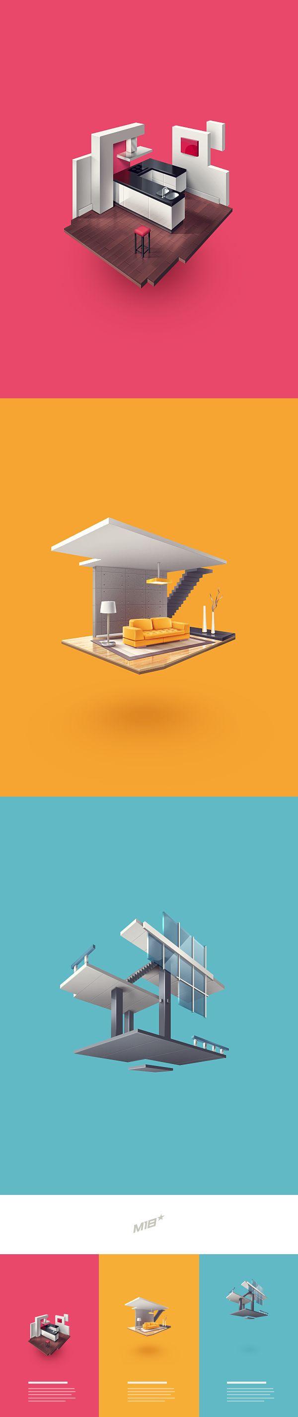 Block interior icons for Fabricator.