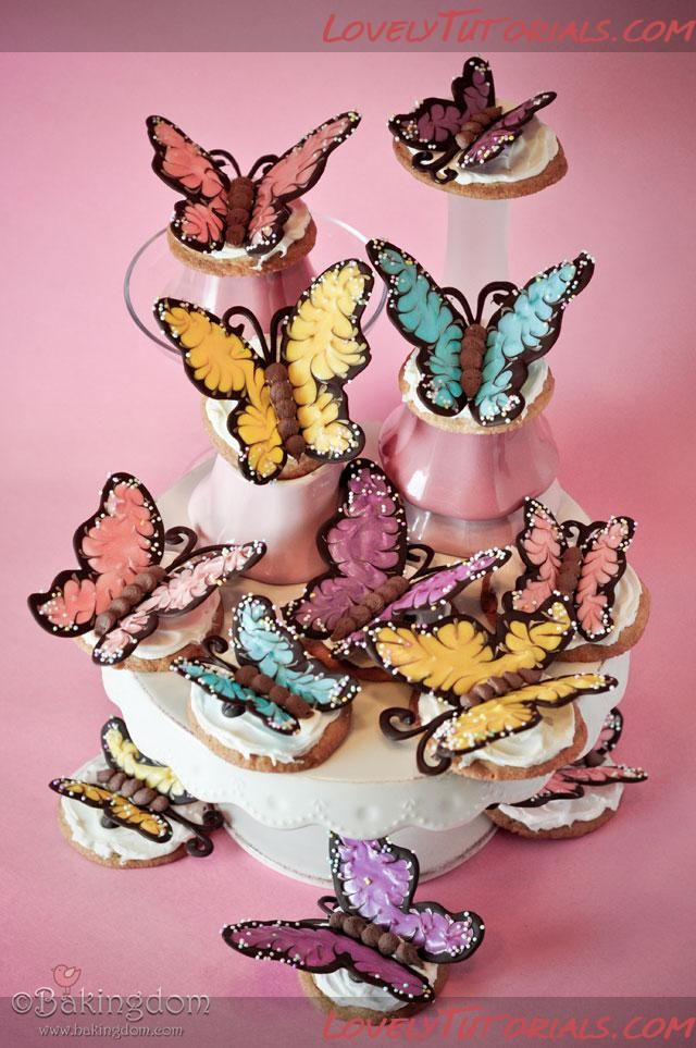 butterfly birthday cake template printable - butterfly templates