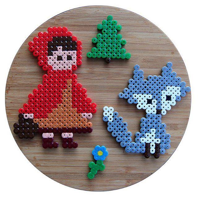 Little Red Riding Hood hama perler beads by perlschwein
