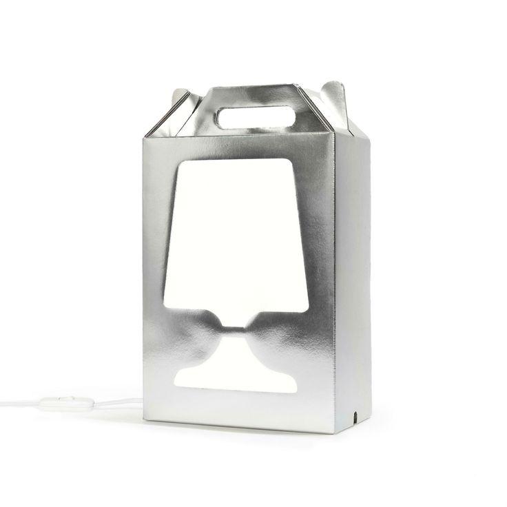 FLAMP - Lampa stojąca Srebrny/Biały DesignCode