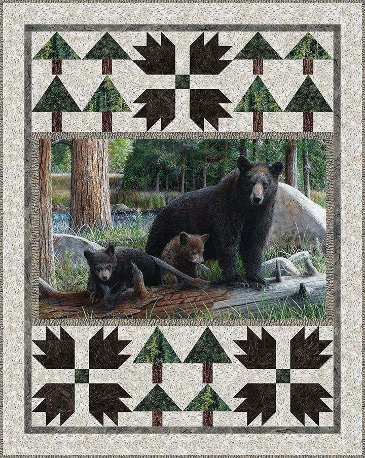 Northcott Quiltagious Panel Quilts Wildlife Quilts