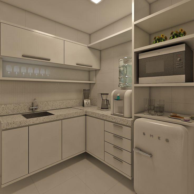 Uma cozinha planejada com toque vintage.