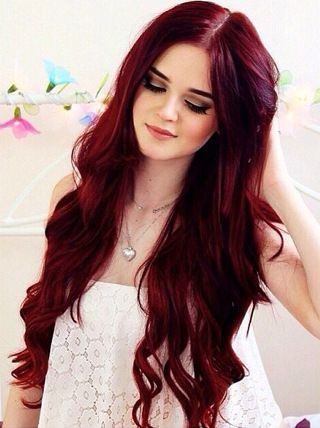 Charming Wavy Lace Front Human Wigs,Red Wigs