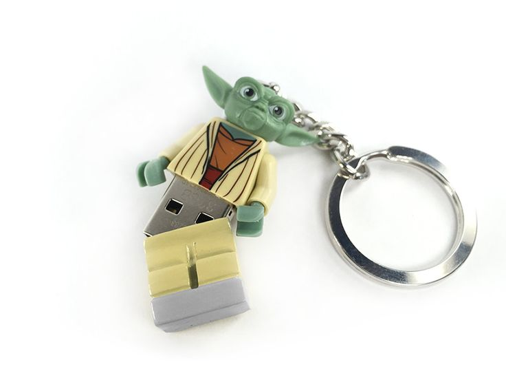 Lego Yoda USB Minifig Keychain 8Gb 16Gb 32Gb 64Gb Star Wars by DFXLegoMinifigs on Etsy