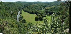 Pohled do kaňonu Dyje z moravské strany