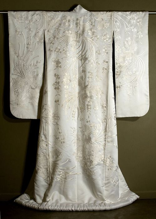 Japanese Embroidered , Shiromuku  Marla Mallett - beautiful!