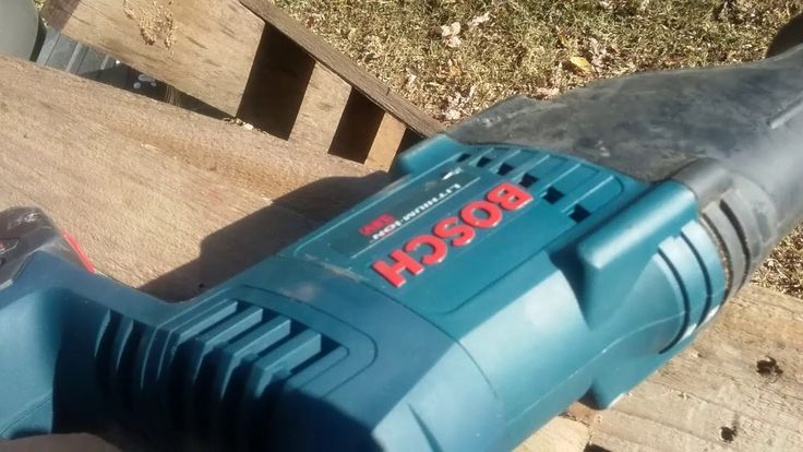 Bosch Cordless CRS180 18v Reciprocating Saw Review