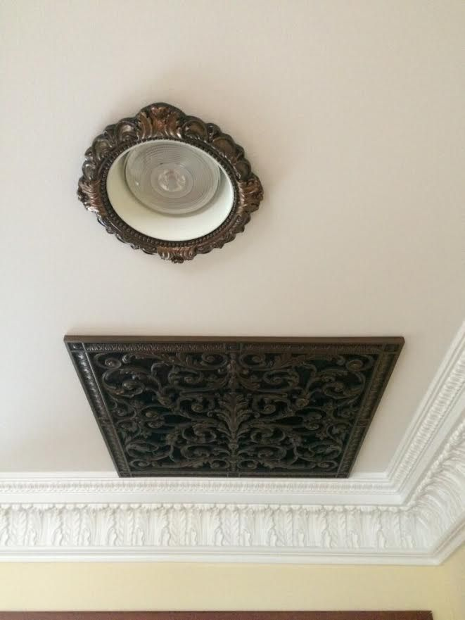 Beaux-Arts Classic Products Louis XIV grille with recessed light trim in Victorian Style