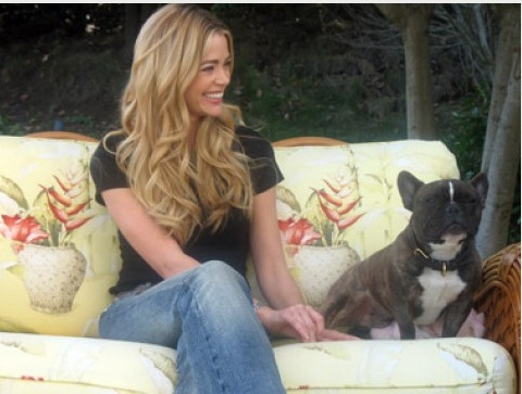 #Denise #Richards Sitting with her Dog on #Rattan Furniture: #Dog #Whisperer Episode pinned by wickerparadise.com