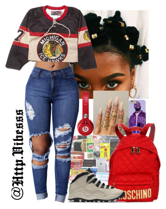 """""""Untitled #981"""" by jazaiah7 ❤ liked on Polyvore featuring Floss Gloss, Moschino and NIKE"""