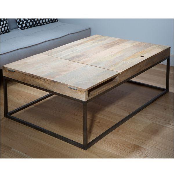 Formidable Table Originale En Bois #13: Table Basse Originale En Bois Et Métal. Une Création De Chez Guibox, Avec  Coffre