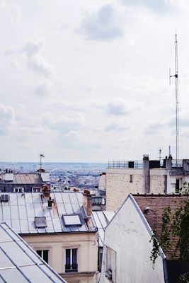 Rooftop in Paris. Available as poster at printler.com, the marketplace for photo art. Photographer Adina Eriksson.