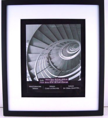 platinum collection 14in x 16in matted to 8in x 10in black masterworks frame - Michaels 8x10 Frame