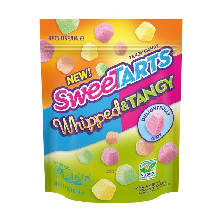 Introduce your taste buds to the tangy twist of a classic with the SweeTARTS® Whipped & Tangy Candy. Whipped into airy candy, the SweeTARTS® recipe has transformed into a unique, delightful snack. If you thought the original candy was delicious, then just wait until you try these.