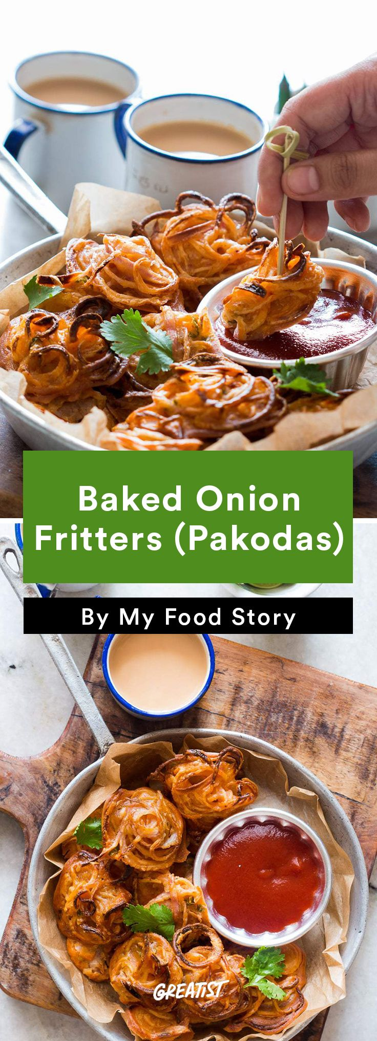 7. Baked Onion Fritters (Pakodas) #healthy #indian #food http://greatist.com/eat/indian-recipes-that-are-easy-to-make-at-home