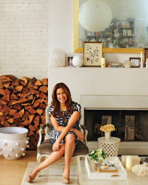 Deborah Needleman In Her Living Room White Fireplace Painted