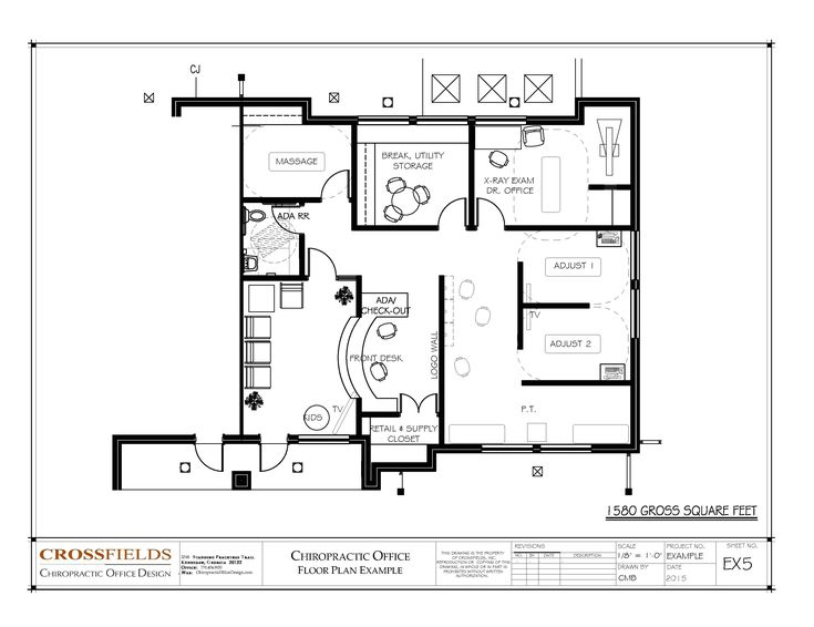 Chiropractic office floor plan semi open adjusting and for 3000 sq ft gym layout