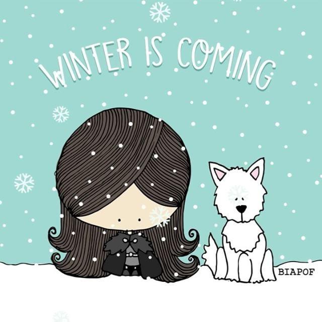 Hoje tem <3 joão das neves! ❄️ #winteriscoming #biaPOF #got