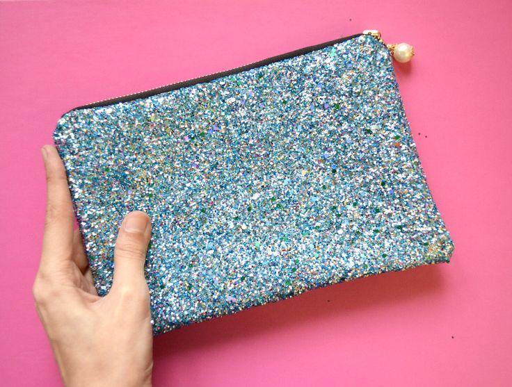 A personal favorite from my Etsy shop https://www.etsy.com/listing/497372586/zanzibar-glitter-clutch-handbag-glitter