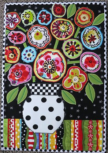 """Folk Art Flowers"" -- I love everything mamacjt does, but especially this."
