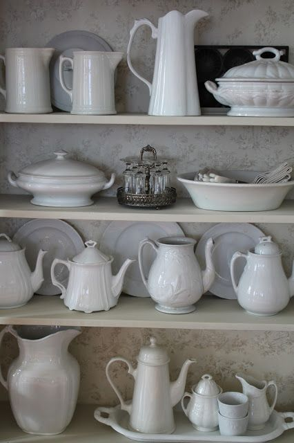 I want an open shelf/cabinet to display my white stuff that I have yet to buy... :)