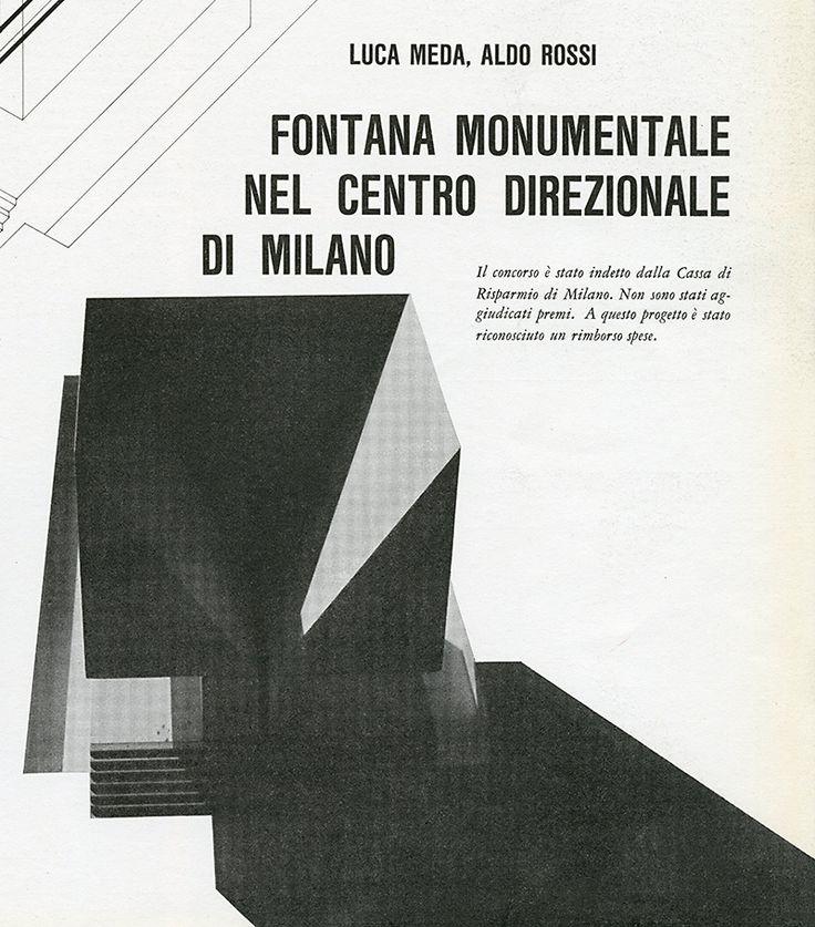 Luca Meda, Aldo Rossi. Casabella 276 1963: 43 | RNDRD