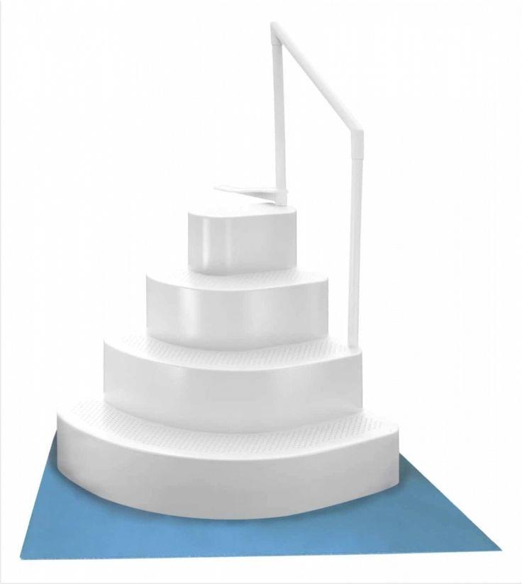 Wedding Cake Style Pool Steps