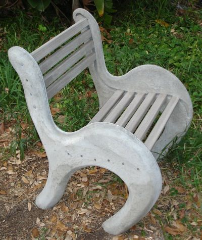 How Cool Is This Concrete Chair. Outdoor SeatingCementConcreteBenches