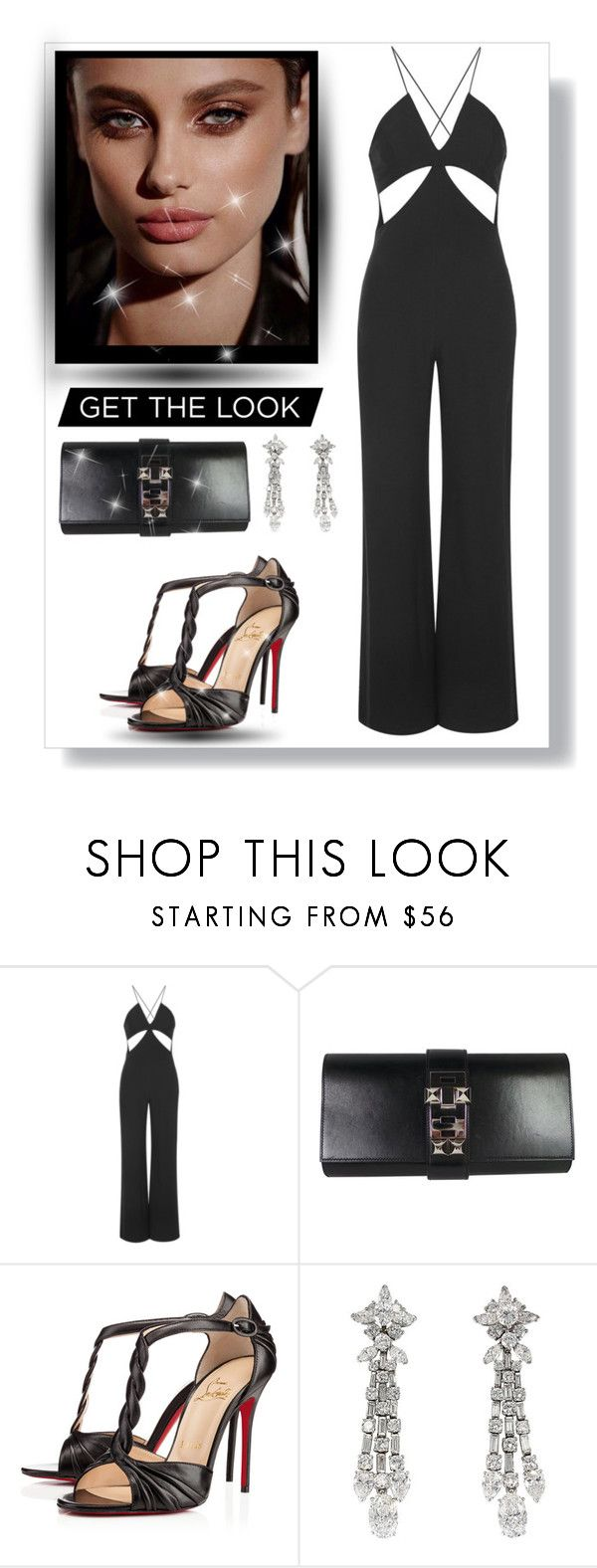 """Sem título #1058"" by fashionmodelstyle ❤ liked on Polyvore featuring Rare London, Hermès, Christian Louboutin and Harry Winston"