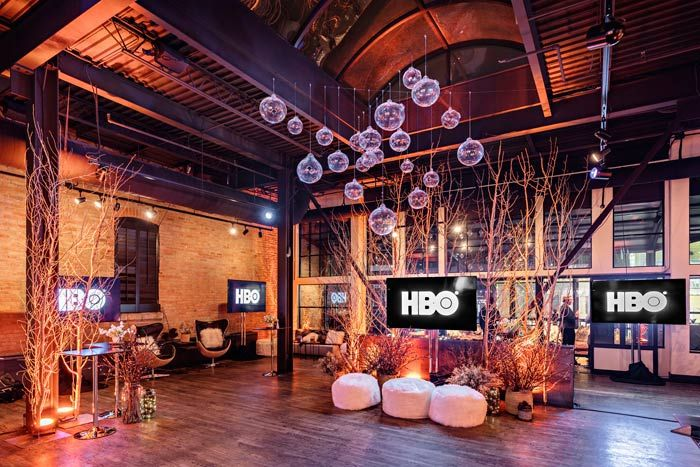HBO's '2 Dope Queens' Party: HBO hosted an event January 19 at Riverhorse on Main Street to celebrate the festival premiere of the 2 Dope Queens special, which is based on the comedy podcast by Jessica Williams and Phoebe Robinson. The event, which was produced by Team Epiphany, had a winter theme that incorporated decor including a transparent orb ceiling installation.