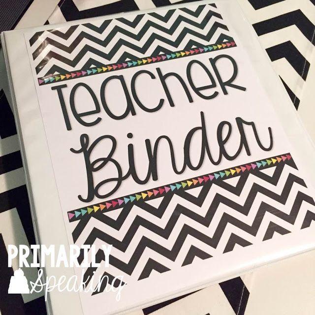 Teacher Binder FREEBIE!