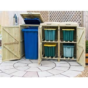 Make the most of your garden and keep it looking wonderful with this One Bin/Four Box Bin store & Recycle Unit