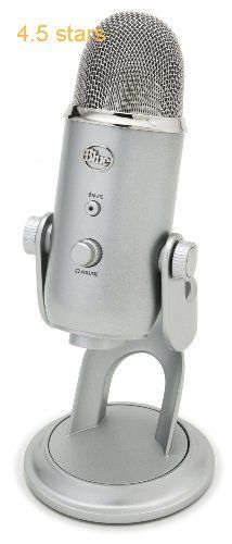 (Rating: 4.5 stars) Blue Yeti USB Microphone  Silver Blue Yeti USB Microphone Silver is a top quality pick in the best selling products online in Musical Instruments  category. Click below to see its Availability and Price in your country.