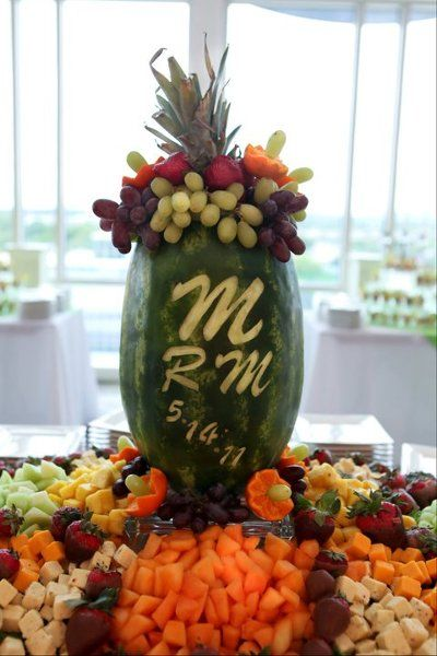 Best watermelon carvings and fruit displays images on