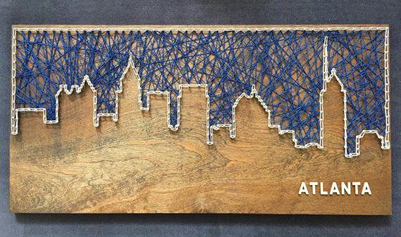 Custom Atlanta Skyline String Art by CactusCustomDesigns on Etsy